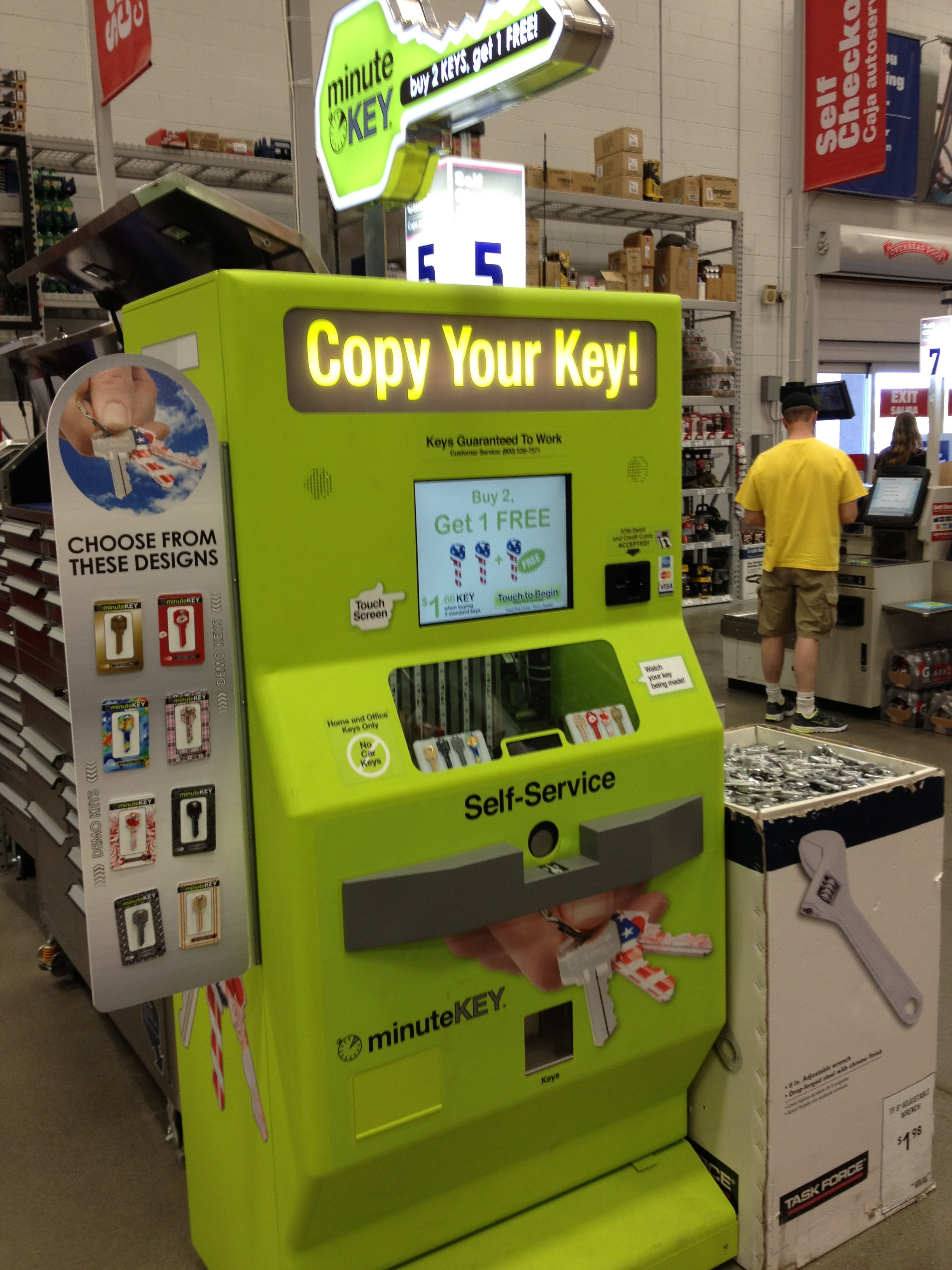key copy machine walmart